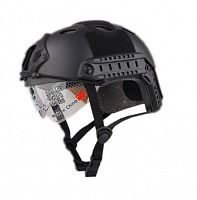 ШЛЕМ ПЛАСТИКОВЫЙ EMERSON FAST PJ HELMET REPLICA with googles Black