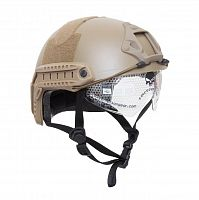 ШЛЕМ ПЛАСТИКОВЫЙ EMERSON FAST MH HELMET REPLICA with googles TAN